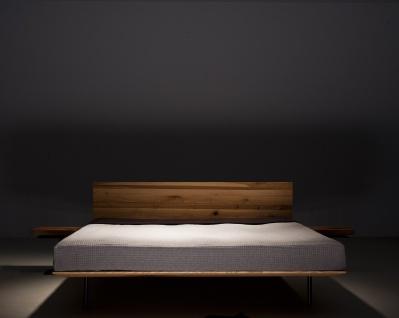 Mazzivo ® OUTLET SALE -35% Designerbett Schwebebett Massivholz MODO Erle 180/200 - Vorschau 5