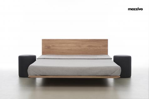 Mazzivo ® OUTLET SALE -35% Designerbett Schwebebett Massivholz NOBBY Erle 200/220 Überlänge