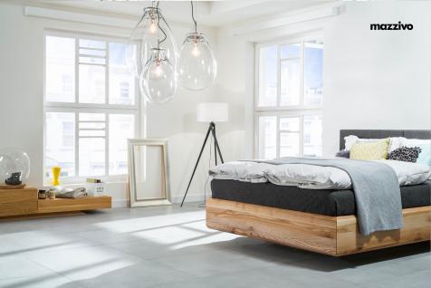 Mazzivo ® OUTLET SALE -35% Designerbett Polsterkopfteil Massivholz BOXSPRING Erle 200/210 Überlänge - Vorschau 4