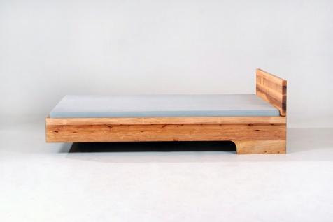 Mazzivo ® OUTLET SALE -35% Designerbett Schwebebett Massivholz LOOP Erle 120/200 - Vorschau 4
