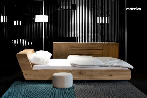 Mazzivo ® OUTLET SALE -35% Designerbett Doppelbett Massivholz LUGO Erle 200/220 Überlänge - Vorschau 2