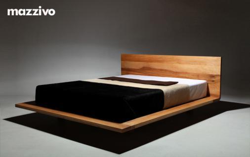 Mazzivo ® OUTLET SALE -35% Designerbett Schwebebett Massivholz MOOD Erle 200/210 Überlänge