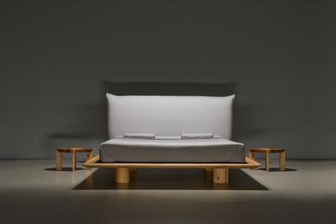 Mazzivo ® OUTLET SALE -30% Designerbett Schwebebett Massivholz NUVOLA Erle 140/200
