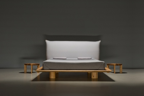 Mazzivo ® OUTLET SALE -30% Designerbett Schwebebett Massivholz NUVOLA Erle 160/200
