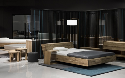 Mazzivo ® OUTLET SALE -35% Designerbett Doppelbett Massivholz LUGO Erle 140/200