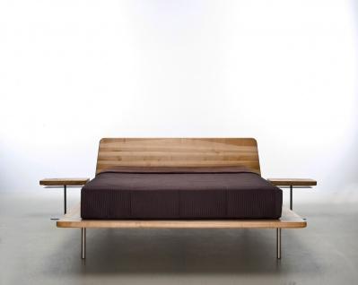 Mazzivo ® OUTLET SALE -35% Designerbett Schwebebett Massivholz LETTO Erle 160/200