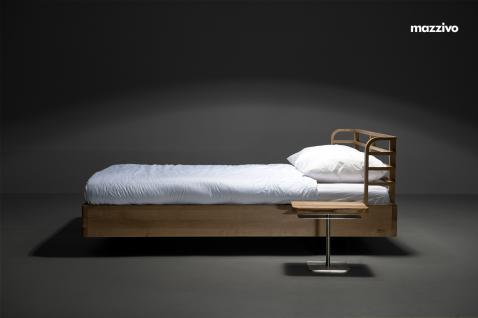 Mazzivo ® OUTLET SALE -35% Designerbett Doppelbett Massivholz BOW Erle 120/200 - Vorschau 3