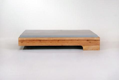 Mazzivo ® OUTLET SALE -35% Designerbett Schwebebett Massivholz LOOP Erle 120/200 - Vorschau 2
