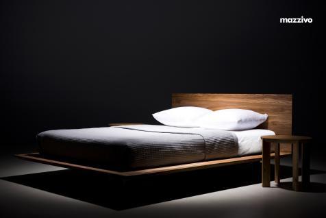 Mazzivo ® OUTLET SALE -35% Designerbett Schwebebett Massivholz SLIM Erle 200/220 Überlänge - Vorschau 3