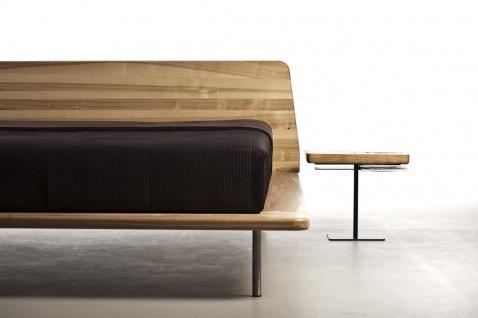 Mazzivo ® OUTLET SALE -35% Designerbett Schwebebett Massivholz LETTO Erle 160/200 - Vorschau 5