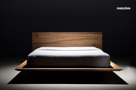 Mazzivo ® OUTLET SALE -35% Designerbett Schwebebett Massivholz SLIM Erle 200/220 Überlänge - Vorschau 2