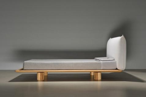 Mazzivo ® OUTLET SALE -30% Designerbett Schwebebett Massivholz NUVOLA Erle 140/200 - Vorschau 2