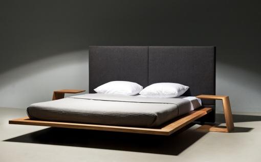 Mazzivo ® OUTLET SALE -35% Designerbett Schwebebett Massivholz MOOD 2.0 Erle 160/200 - Vorschau 2