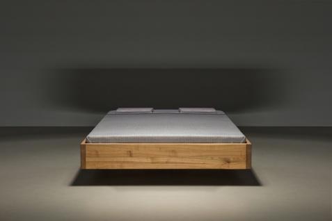 Mazzivo ® OUTLET SALE -35% Designerbett Schwebebett Massivholz POOL Erle 160/200 - Vorschau 2