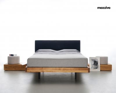 Mazzivo ® OUTLET SALE -35% Designerbett Schwebebett Massivholz SMOOTH Erle 200/210 Überlänge