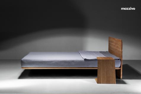 Mazzivo ® OUTLET SALE -35% Designerbett Schwebebett Massivholz NOBBY Erle 200/210 Überlänge - Vorschau 4