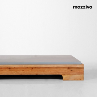 Mazzivo ® OUTLET SALE -35% Designerbett Schwebebett Massivholz LOOP Erle 120/200