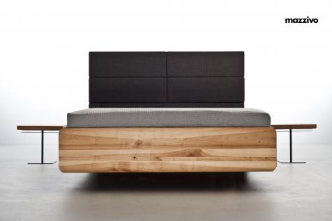 Mazzivo ® OUTLET SALE -35% Designerbett Polsterkopfteil Massivholz BOXSPRING Erle 200/210 Überlänge