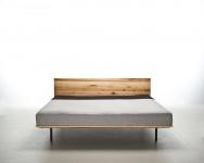 Mazzivo ® OUTLET SALE -35% Designerbett Schwebebett Massivholz MODO Erle 120/200