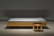 Mazzivo ® OUTLET SALE -35% Designerbett Schwebebett Massivholz POOL Erle 120/210 Überlänge