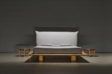 Mazzivo ® OUTLET SALE -30% Designerbett Schwebebett Massivholz NUVOLA Erle 180/200