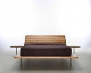 Mazzivo ® OUTLET SALE -35% Designerbett Schwebebett Massivholz LETTO Erle 120/200