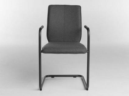 Bert Plantagie Stuhl Tara Freischwinger 824 oder 827 mit Uni-Polsterung Polsterstuhl für Esszimmer Esszimmerstuhl Gestellausführung und Bezug in Leder oder Stoff wählbar