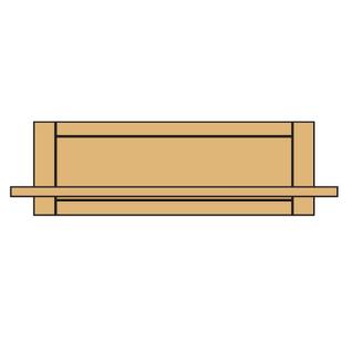 Niehoff Wandboard Casa-Nova 0194 teilmassiv Wildeiche geölt Regal passend zu den Solitärmöbeln Casa-Nova für Wohnzimmer oder Esszimmer