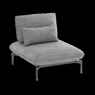 Niehoff Garden Valencia Loungesessel G819-100-523 Einzelsessel Aluminiumgestell anthrazit inkl. Sitz- Rücken- und Dekokissen in stoff anthrazit