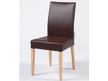 Standard furniture Stuhl Cora mit kantenumlaufenden Ziernähten Polsterstuhl für Esszimmer und Wohnzimmer Gestellausführung und Bezug wählbar - Vorschau 4