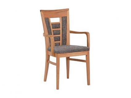 Dkk Klose Kollektion Polstersessel S11 mit Armlehnen mit Sitzpolster und gepolstertem Rücken für Küche Wohnzimmer oder Speisezimmer zahlreiche Holzausführungen und Bezüge Leder oder Textil wählbar