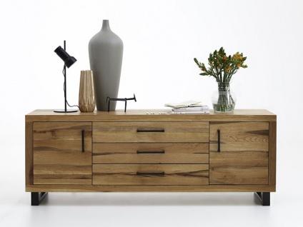 Bodahl Nature Anrichte rustic oak mit drei Schubkästen und zwei Türen Massivholz Kommode 10770 für Wohnzimmer oder Esszimmer in sieben Ausführungen wählbar