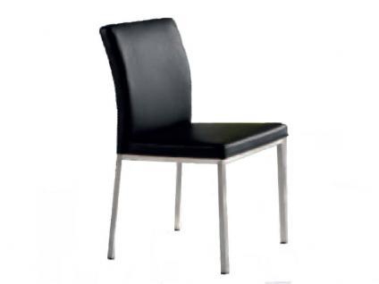 Niehoff Stuhl 5171 Bistro Gestell Edelstahl Bezugsstoff Kunstleder Look Farbe wählbar