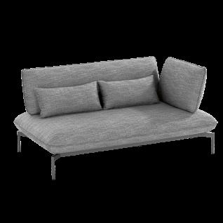 Niehoff Garden Valencia Lounge-Sofa G849-100-523 2-Sitzer rechts mit Aluminiumgestell anthrazit inkl. Sitz- Rücken- und Dekokissen in stoff anthrazit