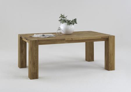 Elfo-Möbel Esstisch Art.Nr. 2452 Speisezimmertisch in Wildeiche massiv geölt stabverleimt Ansteckplatte optional wählbar für Speisezimmer oder Wohnzimmer