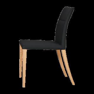 DKK Klose Polsterstuhl S89 mit Schaumstoffpolsterung im Sitz und Rücken mit Holzbeinen Bezug und Holzausführung wählbar
