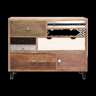 online@more by Niehoff Mango Anrichte mit sieben Schubkästen aus Mango Massivholz für Ihren Wohn- und Essbereich