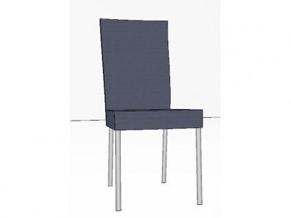 Gwinner Stuhl Lisa Vierfußstuhl 131-000 ohne Armlehnen Gestell Rundrohr Edelstahl Polsterstuhl für Esszimmer Bezug wählbar