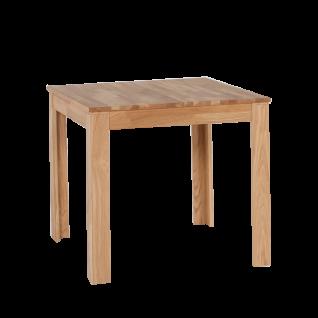 Standard Furniture Esszimmertisch Pedro in zwei Ausführungen mit fester Tischplatte Holztisch aus Kernbuche