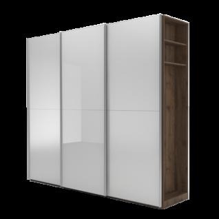 Nolte Möbel Marcato 2.2 Schwebetürenschrank Ausführung 2 mit 3 waagerechten Sprossen mit 20er-Außenregal Schrankgröße Farbausführung konfigurierbar