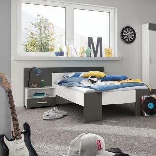 Röhr-Bush cadre Jugendzimmer 6-teilig bestehend aus Liegenbett mit einer Liegefläche von ca. 100 x 200 cm inkl. Bettkonsole Kopfteilpaneel Kleiderschrank 3-türig Schreibtisch sowie Paneelregal - Vorschau 2