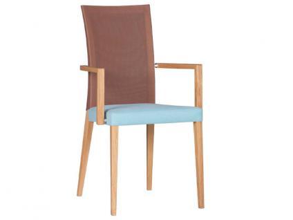 DKK Klose Sessel S43 mit Komfortschaumpolsterung in Sitz und Rücken Sessel für Wohnzimmer und Esszimmer Bezug in vielen Stoffen und Echtleder wählbar