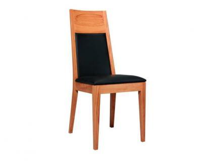 Dkk Klose Kollektion Polsterstuhl S18 für Küche Wohnzimmer oder Esszimmer Sitzpolsterung in zwei Varianten erhältlich zahlreiche Holzausführungen und Bezüge Leder oder Textil wählbar