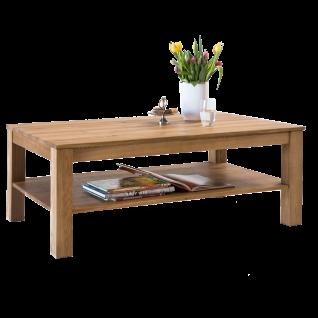 Elfo-Möbel Couchtisch Kira 2493 rechteckig in Wildeiche geölt mit Ablage für Ihr Wohnzimmer oder Gästezimmer