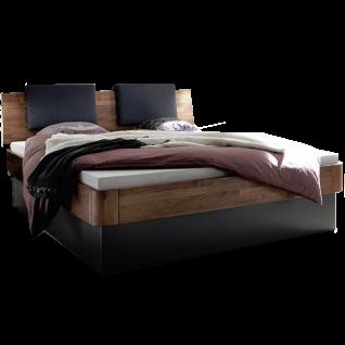 Hasena Fine-Line Bett bestehend aus Bettrahmen Syma 18 Kopfteil Varus Sockel Practico-Ron Box Liegefläche ca. 180 x 200 cm optional mit Hängenachttischen Caja und Kissenset Varo möglich