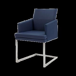 Wöstmann Sessel SINA 4 Stuhl mit Polstersitz und Polsterrücken einfarbig Freischwinger Bezug und Gestell wählbar