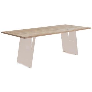 Wimmer Zweigl Wangenesstisch Z20 mit Stahlwangen massiv geölt Tischplattenausführung Größe Kantenprofiltyp Wangentyp Ansteckplatte und Ansteckplattentyp wählbar Tisch für Ihre Küche oder Ihr Esszimmer