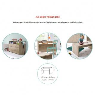 Röhr-Bush puzzle baby 3-teiliges Babyzimmer bestehend aus Babybett, Wickelkommode und Highboard Kleiderschrank Höhe ca. 143, 5 cm - Vorschau 2