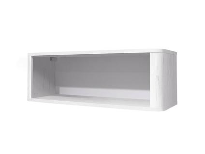m usbacher lara h ngeregal 0474 00 mit 1 offenen fach f r babyzimmer oder kinderzimmer wandregal. Black Bedroom Furniture Sets. Home Design Ideas