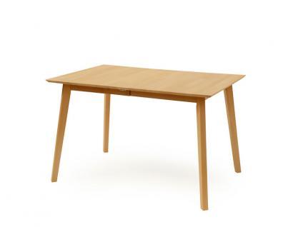Standard Furniture Esstisch Vinko mit Holzplatte Tisch für Esszimmer in Buche natur Massivholz lackiert Tischplatte ca 120 x 80 cm für Wohnzimmer oder Speisezimmer